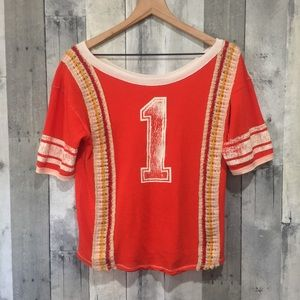 Free People - We The Free Burnt Orange Tee